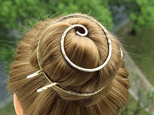 Gold Bun Cover Holder Hair Fork Hair Slide Hair Clip Barrette Hair Pins