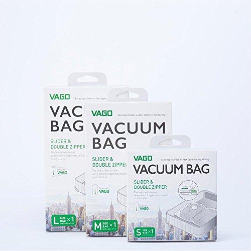 VAGO Portable Vacuum Compression Bag Travel Luggage Space Saver M 50cm x 60cm x2