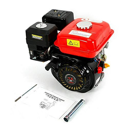 Aohuada Benzinmotor 4 Takt 5,1kW Einzylinder Kartmotor 7,5PS Stand Motor 20 mm Welle Benzin Wasserpumpe Motorpumpe für Wassertransferpumpe (Rot 2)