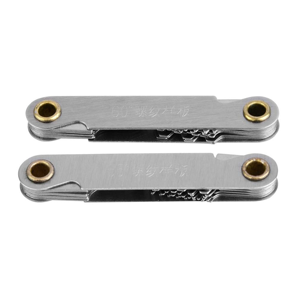Thread Gauge 2pcs Imperial55° Stainless Ranking TOP16 + Popular products Metric60° Steel