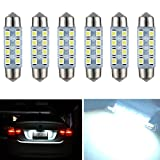 Nuokexin 41mm-42mm 8-SMD 1.72 inch Festoon Dome Light LED Bulbs (6-pack)