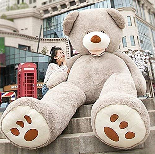 HYAKURIぬいぐるみ 特大 くま/テディベア  可愛い熊 動物 大きい/巨大 くまぬいぐるみ/熊縫い包み/クマ抱き枕/お祝い/ふわふわぬいぐるみ130cm (130cm, グレー)