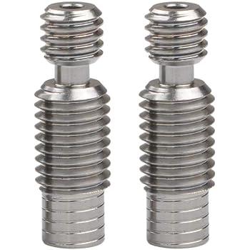 bore Polished (5 Pieces) Precision machined Titanium All-Metal |1.75mm Heatbreak Throat for V6 RepRap 3D Printer Hot End