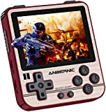 Anbernic RG280V Consolas de Juegos Portátil , Consola de Juegos Retro Game Console 3.5 Pulgadas IPS Videojuegos Portátil Free with 64G TF Card Built-in 2500 Juegos (Golden)