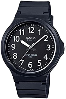 Casio Men's Black Dial Silicone Band Watch - MW-240-1BVDF