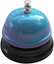 KXN Colorful Call Bell Ring, 3 Inch Diameter, Metal Construction, Desk Bell Service Bell for Hotels, Schools, Restaurants, Reception Areas, Hospitals, Warehouses (Blue)