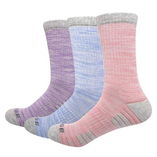YUEDGE Calcetines de Algodón Deportivos Termicos de Invierno para Mujer 5 Pares XL