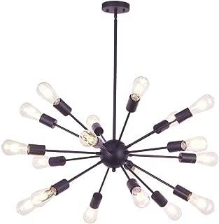 VINLUZ Sputnik Chandelier Oil Rubbed Bronze 18 Light Modern Pendant Lighting Rustic Dining Room Ceiling Light Fixtures UL Listed