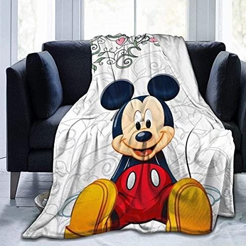 Proxiceen Mickey Minnie Mouse Decke Kuscheldecke Tagesdecke, Flanelldecke Ultra Soft Plüsch Decke (A5,150 x 200 cm)