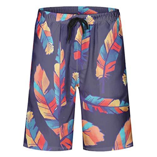 Vrnceit klassisch Herren Badehose Beach Shorts Wassersport schnell trocknen mit Elastic Waist und Pockets Pinna White l
