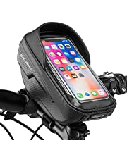 ROCKBROS Fietsstuurtas Waterdichte Frametas met TPU Touchscreen Harde Schaal Bovenbuiszak Gsm-houder gsm-etui voor Smartphones tot 6,2 inch