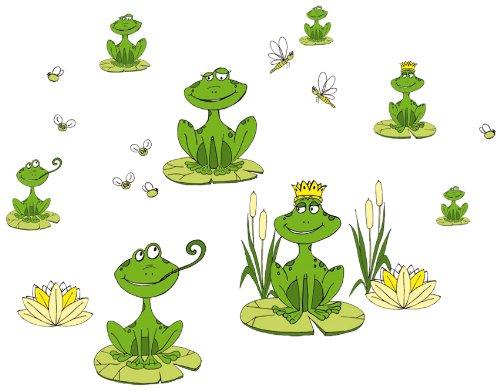 Eurographics Deco Sticker / Wandtattoo DS-LIF1028 Frogs II 25x35 cm