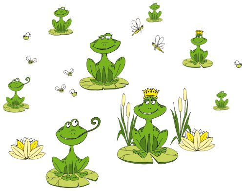 Eurographics Deco Sticker / Wandtattoo DS-LIF1028 Frogs II 25x35 cm