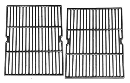 Hongso Cast Iron Cooking Grids Replacement Parts for Affinity 3100, Uniflame GBC850W, Grill Chef GC7550, Ducane Gas Grill, 18 Inch BBQ Grill Grates, Set of 2 (PCH502)