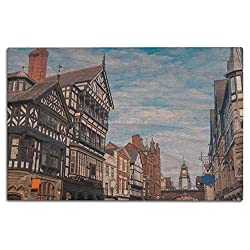 Lantern Press Chester, England - Eastgate Clock 9035847 (12x18 Wood Wall Sign, Wall Decor Ready to Hang)
