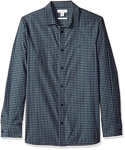Calvin Klein Camisa de algodón con Botones de Cachemira para Hombre