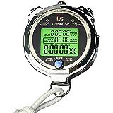GLX Metallo Cronometro Digitale Cronometro per Lo Sport Competizioni Sportive, Allenatori, Arbitri, Atletico Allenamento Orologio Cronografo con Sveglia, Calendario E Display LCD,100 Channels