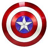 Getrichar América Disfraz Escudo Capitán Escudo de plástico Accesorios para Disfraces de Halloween Accesorios de Cosplay Serie Leyendas Accesorios de réplica 22 Pulgadas Adulto Talla única