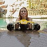 FXQIN Seascooter - Elektro Wasserdichter Dual Speed Propeller Tauch- und Schwimmbooster, Tiefwasser 40 m, für die Unterwassererholung (Gelb)