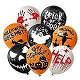 TUPARKA 24 Pezzi Palloncini Halloween Palloncini in Lattice da 12 Pollici Palloncini Halloween Fun Decorazioni per Feste 8 Stile Halloween