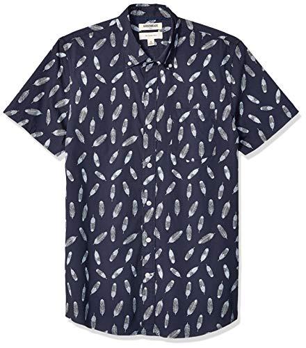 Marca Amazon – Goodthreads – Camisa estampada de manga c