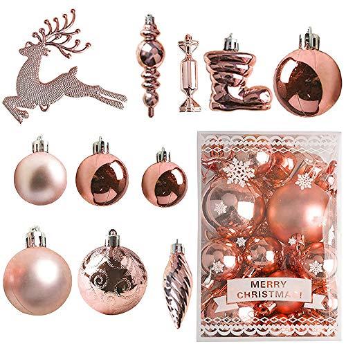 30PCS Palle Di Plastica Per Ornamenti Natalizi,Palla Per Decorare L'albero Di Natale,Ornamenti Della Palla Dell'albero Di Natale,Decorazioni Per Palle Di Natale,Palle Per Decorare