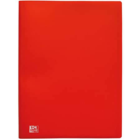 OXFORD Protège-Documents Initial A4 80 vues / 40 Pochettes Couverture Polypro Rouge