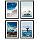 Diamond Painting Frame 4 Pack, Suitable for 12x16 Diamond Art Canvas with Mat or 12x16 Photo Without Mat, Wall Gallery Photo Frames - Black
