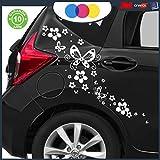 Just Go Online S.l.u. Stickers pour Voiture–Fleurs et farfalle- Voiture...
