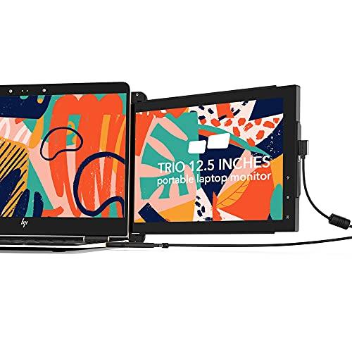Mobile Pixels Trio Tragbarer Monitor für Laptops, 31,8 cm (12,5 Zoll), Full HD, IPS, Dual- oder Dreifach-Monitore für Laptops