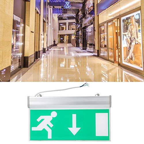LED Notlichtleuchte, LED Notlichtleuchte aus Acryl, Sicherheits Evakuierungsanzeigeleuchte 110 220V