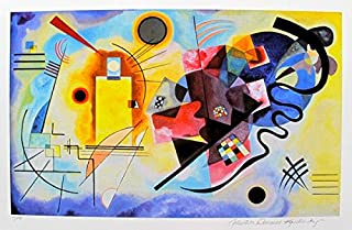 Artwork by Wassily Kandinsky Yellow, Red And Blue Estate Signed Limited Edition Giclee Print. After the Original Painting or Drawing. Paper 17.5 Inches X 22 Inches
