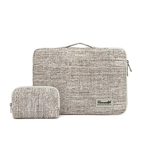 Canvaslife 360° Protective 13 inch-13.5 inch Waterproof Laptop Case Bag Sleeve with Handle for 13.3' MacBook Air | 13' MacBook Pro Retina and 13.3 inch 13.5 inch Laptop(Linen Style)