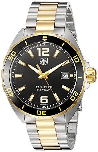 TAG Heuer Men's Formula 1 Swiss-Quartz Watch with Two-Tone-Stainless-Steel Strap, 20 (Model: WAZ1121.BB0879)