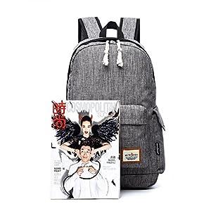 #7071 Oxford mochila para laptop de 15.6 pulgadas con capacidad de 25 L negro PU