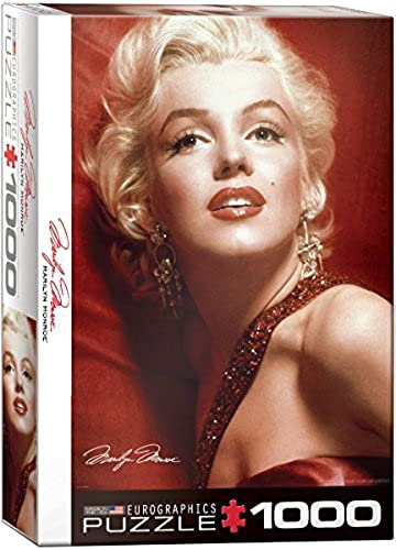 EuroGraphics Marilyn Monroe rot Portrait by Sam Shaw 1000 Piece Puzzle by EuroGraphics