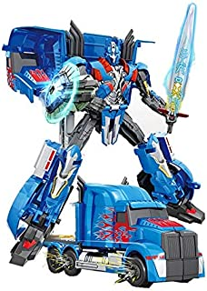 Transformation Robot Car Truck Deformation Puzzle Educational Toy for Kids, Blue