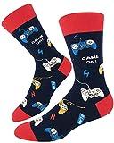 Sockie Men Novelty Classic Video Game Controller Crew Socks, Funny Gamer Boyfriend Gift, Gamepad, Medium