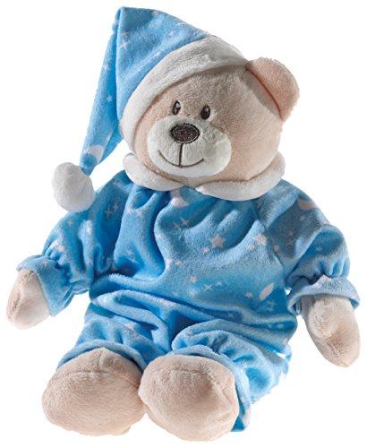 Heunec 136571 Plüschtier, Bär, Teddy, beige mit blau