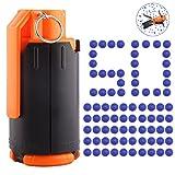 Toby 1Pack Granate Spielzeug Handgranate Wasserbomben Spiel mit 50St. Nachfüllung Bälle für Nerf...