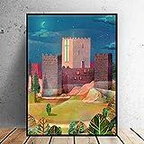 Guimaraes Portugal Lienzo Pintura Arte impresión Cartel Imagen Pared Moderno Minimalista Dormitorio Sala de Estar decoración 50X70cm 20x28 Pulgadas sin Marco