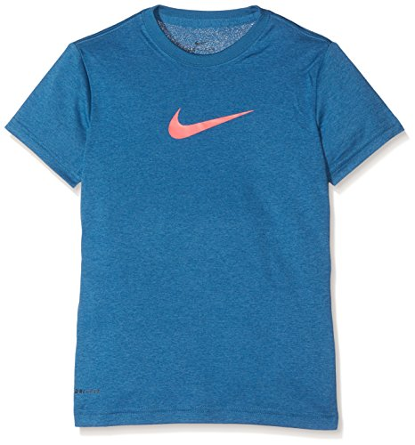 NIKE Legend SS YTH Camiseta, niñas, Azul (Industrial Blue/Racer Pink), S