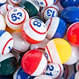 MR CHIPS Professional Colorful Ping Pong Balls - Single Number Coated Inside Print - Multicolored - for Manual...