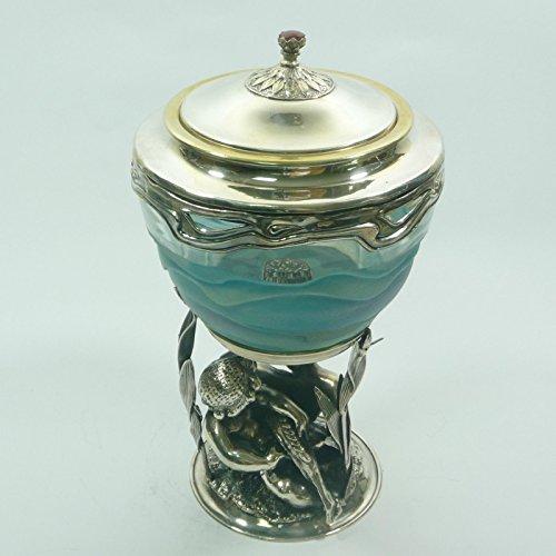Russische Kaviar-Schale aus Sterlingsilber und Kristall