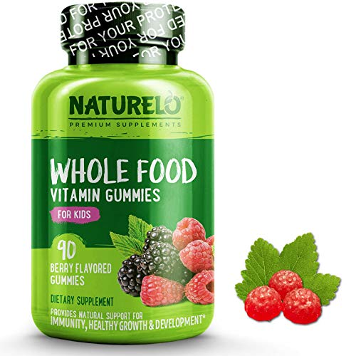 NATURELO Whole Food Vitamin Gummies for Kids - Best Chewable Gummy Multivitamin for Children - New & Improved Flavor - Non-GMO - All Natural Vitamins, Minerals - 90 Vegan Gummies