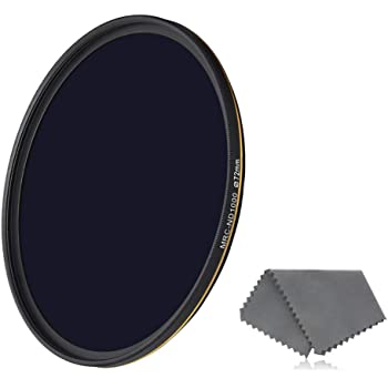 ND2 to ND400 Filter Premium Material XIAOMIN 55mm ND Fader Neutral Density Adjustable Variable Filter