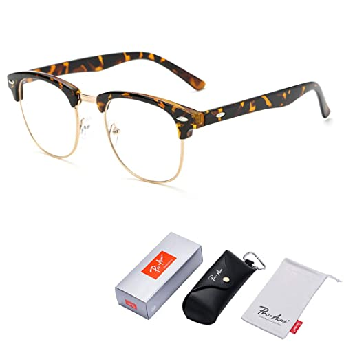 1a3133602 Pro Acme Vintage Inspired Semi-Rimless Clear Lens Glasses Frame