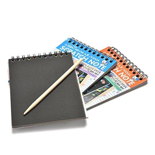 BLOUR Scratchbook Scratch Stickers Note Book Dessin Sketchbook Enfants Cadeau Creative Imagination Développement Jouet Papeterie 1 pc