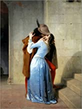 Posterlounge Lienzo 30 x 40 cm: The Kiss de Francesco Hayez - Cuadro Terminado, Cuadro sobre Bastidor, lámina terminada sobre Lienzo auténtico, impresión en Lienzo