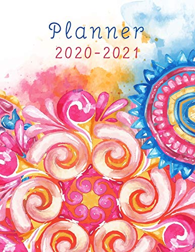Planner 2020-2021: 24 Months Calendar, 2 Year Appointment , Business Planners, Agenda Schedule Organizer Logbook Colorful Watercolor Cover, 8.5